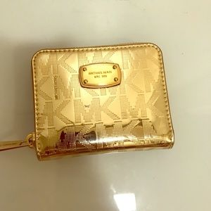 Brand New Michael Kors Small Gold Wallet